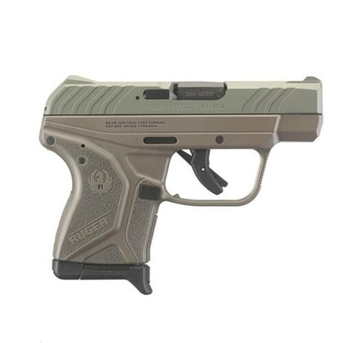 "Ruger LCP II 380 (ACP 2.75"" Barrel Jungle Green Slide, Flat Dark Earth Frame 6rd Mag"