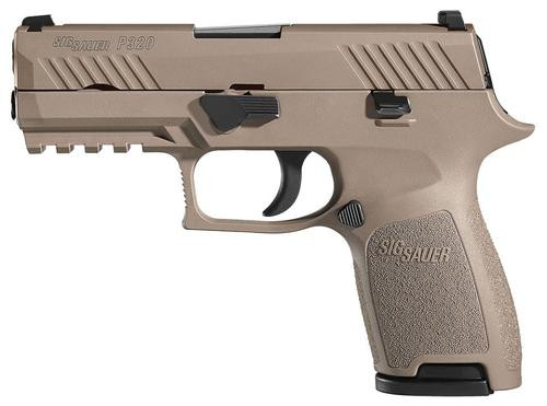 "Sig P320 Compact .357 Sig, 3.9"", Flat Dark Earth PVD Stainless, 4 Point Safety, 2x10rd Mags"