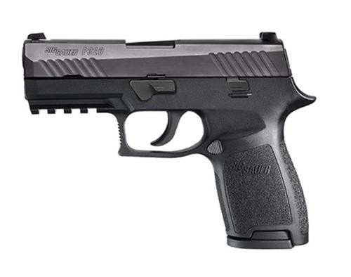 """Sig P320 Compact Double 9mm, 3.9"""", Black Nitron Stainless, 4 Point Safety, 2x10rd"""