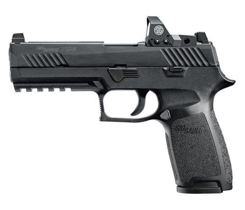 "Sig P320 Full Size RX Double 9mm, 4.7"" Barrel, No Manual Safety, Romeo1 Red Dot, 2x17rd Mags"