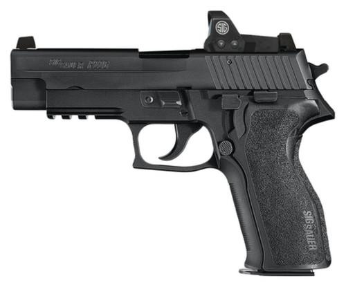 "Sig P226 Romeo1 Single/Double 9mm, 4.4"", Black 1-Piece Ergo Grip, Black Nitron Stainless, 15rd Mag"
