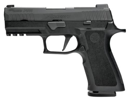 """Sig P320 X-Series Double 9mm, 3.9"""", Black Nitron Stainless, 4 Point Safety, 10rd"""