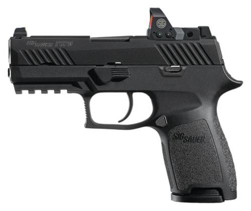 "Sig P320 Compact RX Romeo1 Sight 9mm, 3.9"", Black Stainless, No Manual Safety, 15rd Mag"