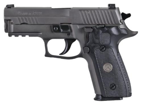 "Sig P229 Compact Legion *MA Compliant* Single/Double 9mm, 3.9"", Black Grip, Gray PVD Stainless, Manual Safety, 10rd"
