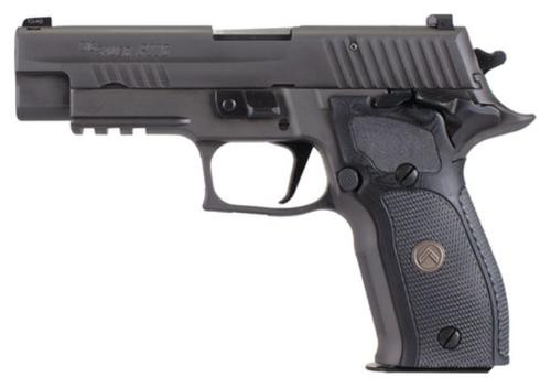 "Sig P226 Full Size Legion *MA Compliant* Single 9mm, 4.4"", Black Grip, Gray PVD Stainless, Match Trig, 10rd"