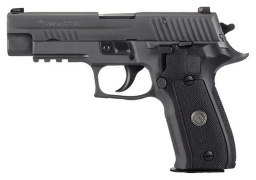 "Sig P226 Full Size Legion *MA Compliant* Single/Double 9mm, 4.4"",Black Grip Gray PVD Stainless Steel, 10rd"