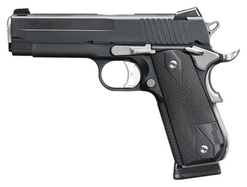 "Sig 1911 Fastback Nightmare Carry Single 45 ACP, 4.2"", Black Nitron Stainless, 8rd, *MA Compliant*"