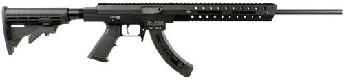"""Excel X-Series X-22R, 22LR, 18"""", 25rd, Collapsible Stock, Black"""
