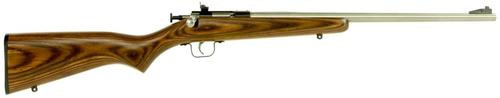 "Keystone Crickett 22LR, 16.12"", Laminate Brown Stock, Stainless Steel"
