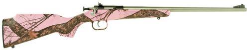 """Keystone Crickett 22LR, 16"""", Pink Mossy Oak Synthetic Stock"""