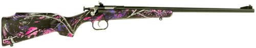 "Keystone Crickett 22LR, 16"". Muddy Girl Camo Synthetic Stock, Blued"