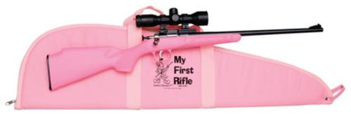 """Benjamin & Sheridan Model 220 Youth Package With Lock .22 LR 16.125"""" Barrel Blue Finish Pink Synthetic Stock Single Shot Includes Mount/Scope/Case"""