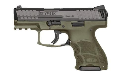 HK VP9SK, Subcompact 9mm, OD Green, 2x10rd Magazines