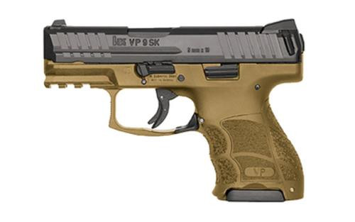 HK VP9SK, Subcompact 9mm, Flat Dark Earth, Night Sights, 3x10rd Mags