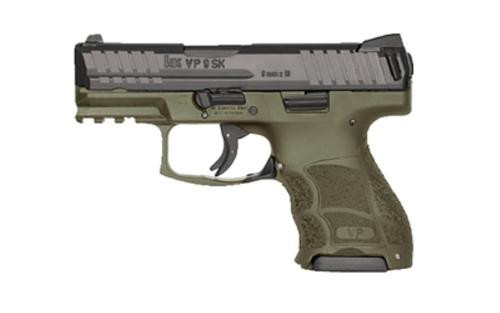 HK VP9SK Subcompact 9mm, OD Green, Night Sights, 3x10rd Mags