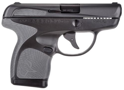 "Taurus Spectrum Double 380 ACP 2.8"" 6+1/7+1 Gray Polymer Grip Black"