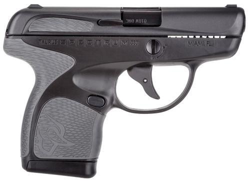 "Taurus Spectrum Double 380 ACP 2.8"", /7+1 Gray Polymer Grip Black,  6 rd"