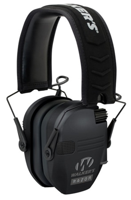 Walkers Game Ear Razor Slim Shooter Folding Electronic Earmuff 23 dB Black, AAA Batteries