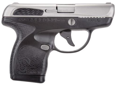 "Taurus Spectrum .380 ACP, 2.8"", 6/7rd, Black Polymer Grip, Stainless"