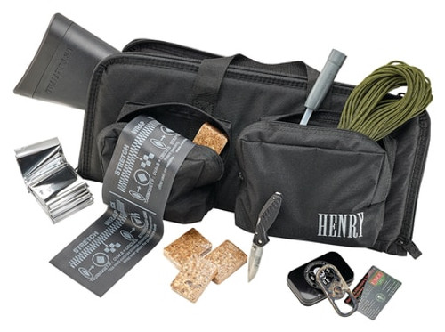 "Henry U.S. Survival Pack AR-7 Rifle Plus Gear 22LR 16"" Barrel Black Teflon Finish ABS Plastic Stock 8rd Mag"