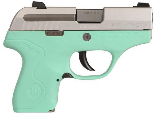 "Beretta Pico .380 ACP, 2.7"", 6rd, Adjustable Sights, Robin Egg Blue"