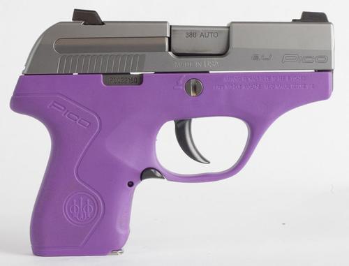 "Beretta Pico .380 ACP, 2.7"", 6rd, Adjustable Sights, Lavender Frame"