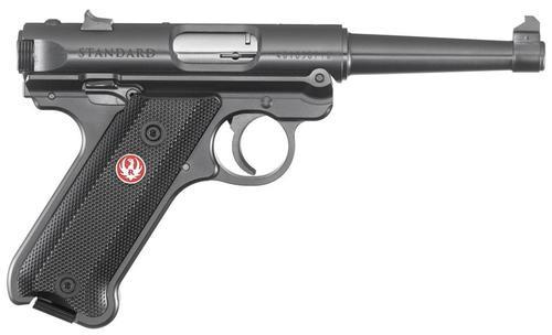 """Ruger Mark IV Standard, 22LR, 4.75"""", 10rd, Black Aluminum Grips"""