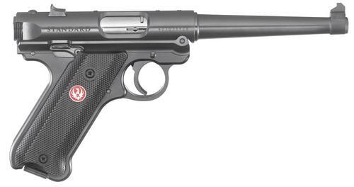 """Ruger Mark IV Standard, 22LR, 6"""", 10rd, Black Aluminum Grips"""