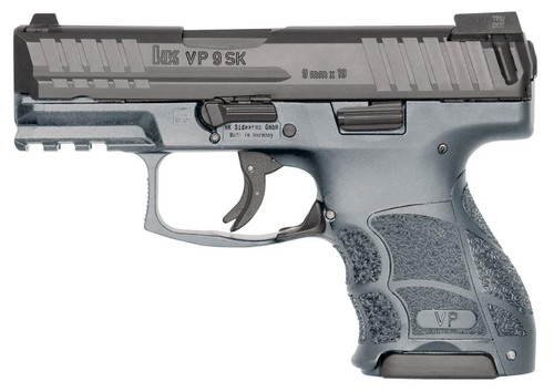 HK VP9SK, Subcompact, 9mm, (Grey) 3-10Rd Magazines and Night Sights