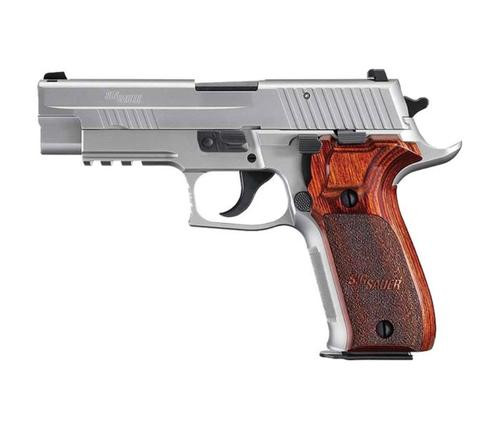 "Sig P226 Stainless Elite, 9mm, 4.4"", 10rd, SS, DA/SA, Siglite NS, Rosewood Grips"