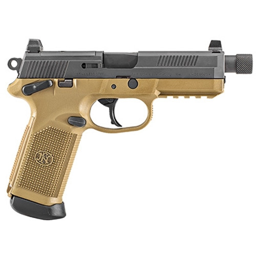 "FN FNX 45 Tactical, 45 ACP, 5.3"" TB, 15rd, NS, Flat Dark Earth Frame"