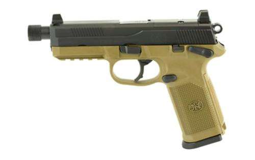 """FN FNX 45 Tactical, 45 ACP, 5.3"""" TB, 10rd, NS, Flat Dark Earth Frame"""