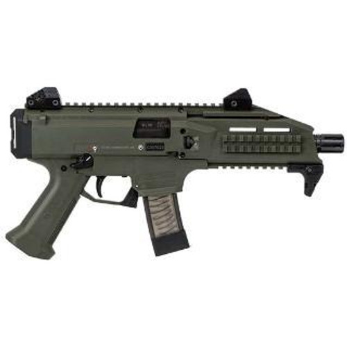 "CZ Scorpion Evo3 S1 9mm, 7.72"", 20rd, OD Green Finish, 1/2x28 Threads"