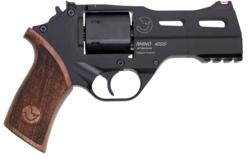 "Chiappa Rhino 40DS, .357 Mag/.38 Spl, 4"", 6rd, Black, Walnut Grips"