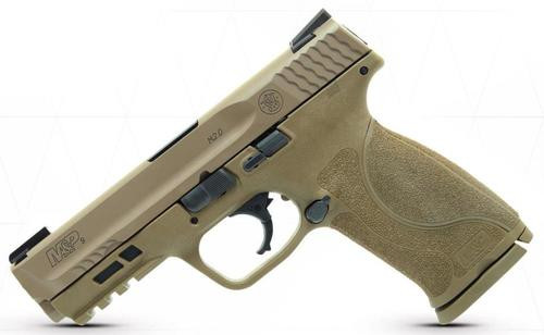 "Smith & Wesson M&P M2.0, 9mm, 4.25"", 17rd, Flat Dark Earth, Truglo TFX Sights"