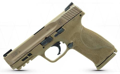 """Smith & Wesson M&P M2.0 40S&W, 4.25"""", 15rd, Flat Dark Earth, Truglo TFX Sights"""