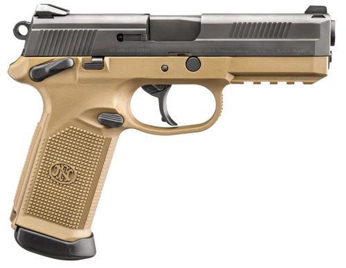 "FN FNX9, 9mm, 4"" Barrel, 17rd, Interchangeable Backstrap, Flat Dark Earth"