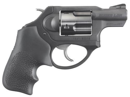 "Ruger LCRX Compact Revolver 9mm, SA/DA, 1.87"" Barrel, 5rd, Black Hogue Tamer Monogrip"