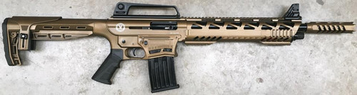 "TR Imports SE122 Tactical Cerakote 12 Ga, 18.5"" Barrel, Door-Buster Brake, Quad Rail, Bronze, 3rd/5rd Mags"