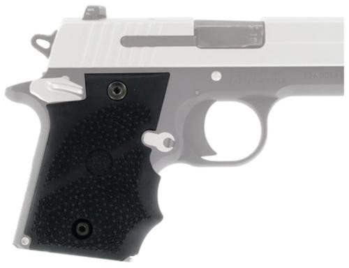 Hogue Ambidextrous Safety Rubber Grip With Finger Grooves for Sig Sauer P938 Black