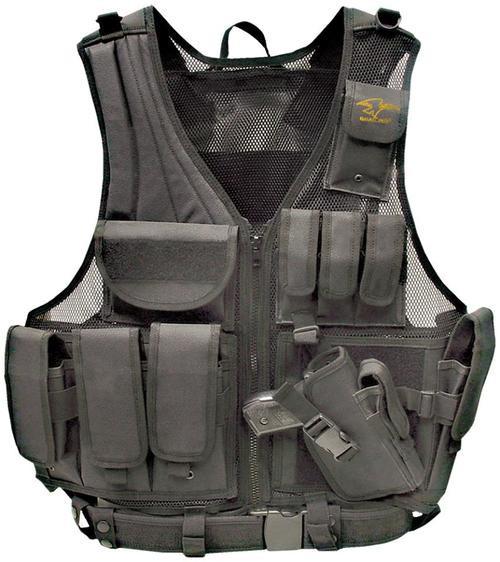 Galati Gear Deluxe Tactical Vest Standard Sz Nylon Black