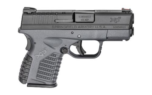 "Springfield, XDS, 45 ACP, 3.3"" Barrel, Polymer Frame, Grey Finish, Fiber Optic Front Sight, 6Rd Mag"