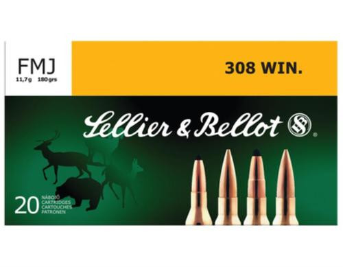 Sellier & Bellot .308 Winchester 180gr, Full Metal Jacket 20rd Box