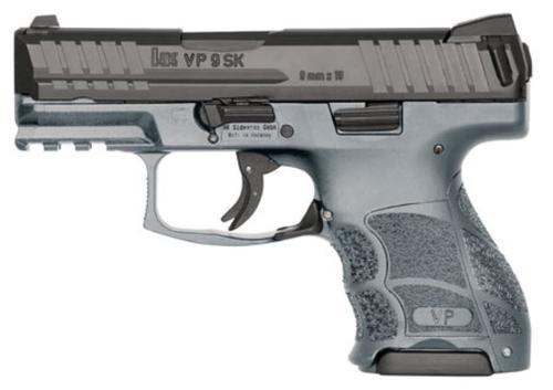 """HK VP9SK Subcompact 9mm, 3.39"""", 10rd, Grey Frame, Black Slide"""