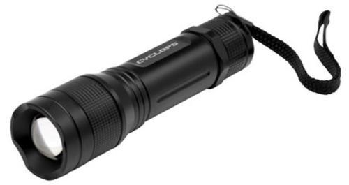 Walkers Cyclops Tactical Flashlight Tri Mode 300 Lumens AAA (3) Black