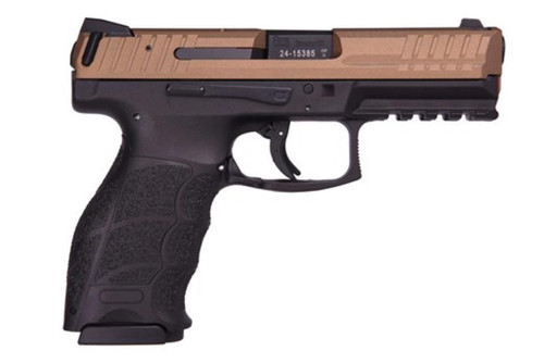 "HK VP9, 9mm 4"" Barrel Ambi Safety Burnt Bronze 2- 15rd Mags German Made"