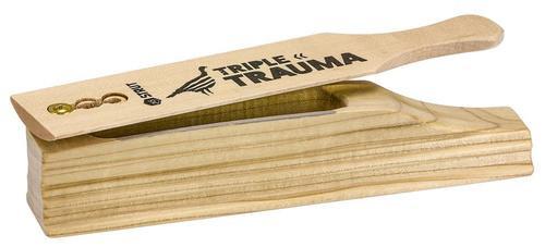 Hunters Specialties Triple Trauma Box Call Hen, Wood