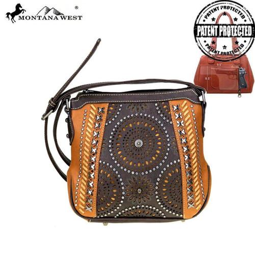 Montana West Concealed Handgun Collection Crossbody Bag, Brown