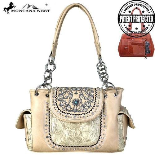 Montnana West Concho Collection Concealed Carry Satchel