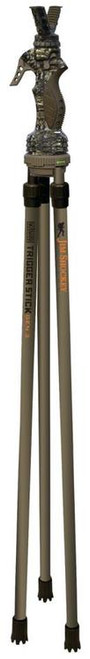 "Primos, Trigger Stick Gen3, Tall Tripod, 26""-62"", Camo/Tan Color- Jim Shockey Edition"